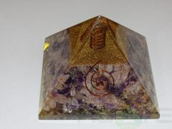 Amethyst Crystal Orgone Pyramid With Crystal Point