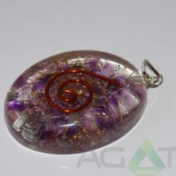 Amethyst Orgone Oval Pendent