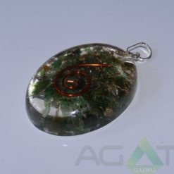 Malachite Orgone Oval Pendent