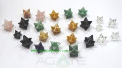 Mix Gemstone Merkaba Star