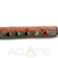 SUN STONE CHAKRA HEALING STICK WITH CRYSTAL BALL AND PENCIL