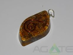 Yellow jasper Orgone Eye Penden
