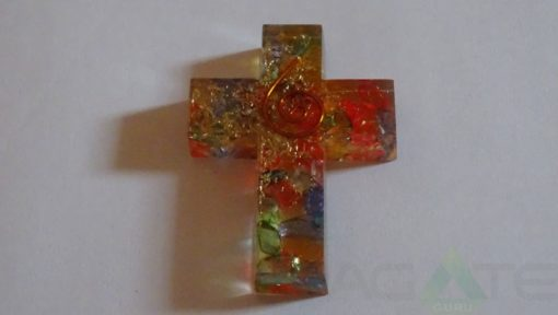 7 Chakra Mix Cross Shape Pendant
