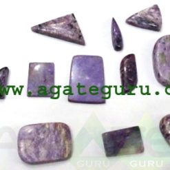 Amethyst Lace Agate Cabochons Mix Shape & Size