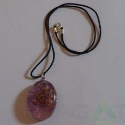 Amethyst Orgone Ovel Pendent With Cord
