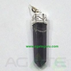 Black Tourmaline Faceted Pencil Pendent