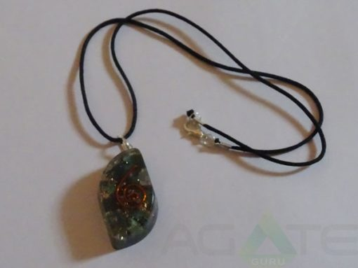 Blood Stone Orgone Eye Pendent With Cord