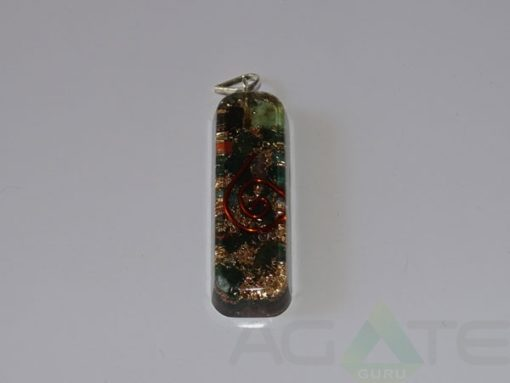 Blood Stone Orgone Pipe Pendant