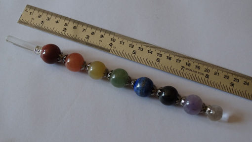 Chakra Ball Healing wands with crystal Point
