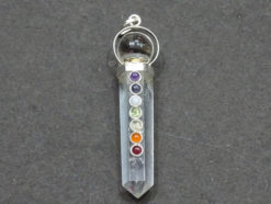 Chakra Crystal Pencil Pendant With Ball
