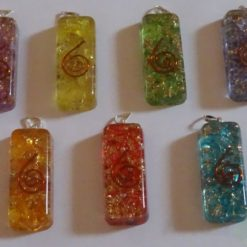 Chakra Orgone Energy Long Rectangle Pendant