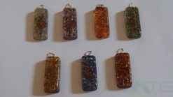 Chakra Orgone Energy Long Rectangle Pendant.