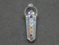 Crystal Quartz Double Terminated Chakra Pendant