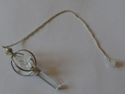 Crystal Quartz Pendulum with star