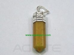 Golden Quartz Pencil Pendants