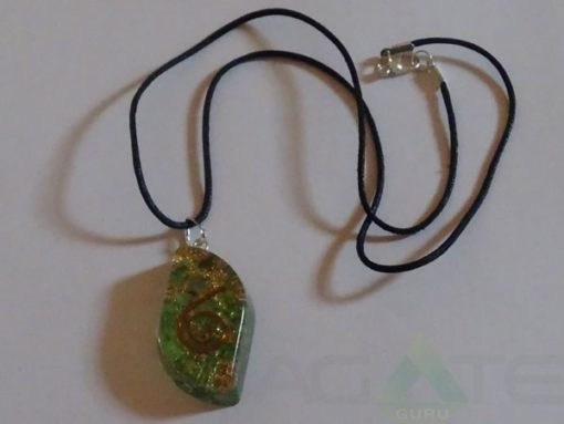 Green Orgone Eye Pendent With Cord