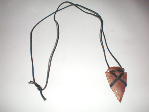 Hand Made 2inch Agate Arrowhead Necklace