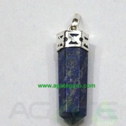 Lapis Lazuli Faceted Pencil Pendent