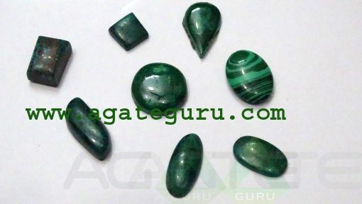 Malachite Cabochons Mix Shape & Size