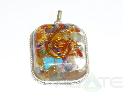 Mix Orgone Rounded Square Pendent