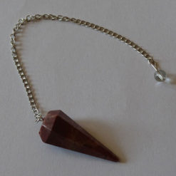 Red Jasper Faceted Pendulums