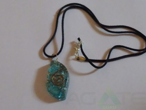 Sapphire Orgone Eye Pendent With Cord