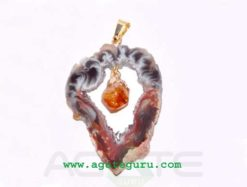 Agate 2 pieces Slice Pendant,