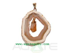 Agate Slice Pendant 2 pieces