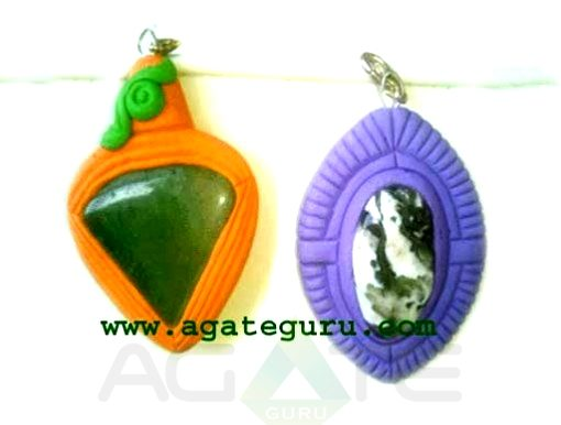 Tibetian Pendent With Agate Stone