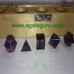 Amethyst 5pcs Geometry set with wooden box