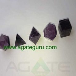 Amethyst 5pcs Geometry set with wooden box .
