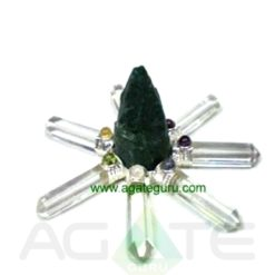 Blood Agate Rough Point Crystal 7 Pencil Generator