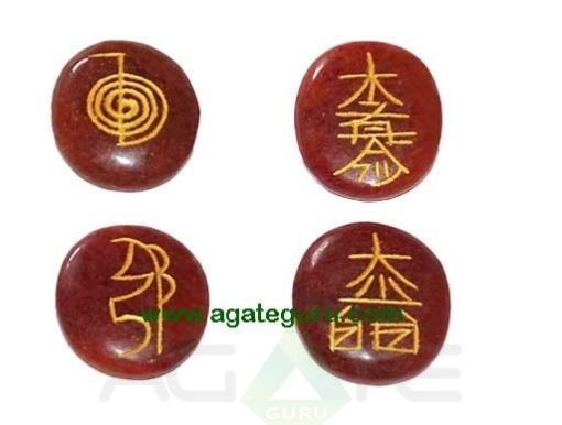 Red Jasper Reiki Oval Set