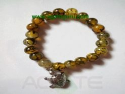 Squama rock/Dragon Bone with Turtle Beads Bracelets