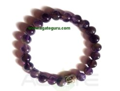 Amethyst With Buddha Face Bracelet. India wholesaler Manufacturer