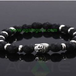 Lava Stone beads with Buddha Bracelet : Wholesaler Manufacturer