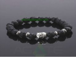 Lava Stone beads with Buddha Beads Bracelet : Wholesaler Manufacturer