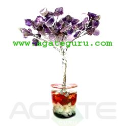 Amethyst 60 beads tree with orgone base