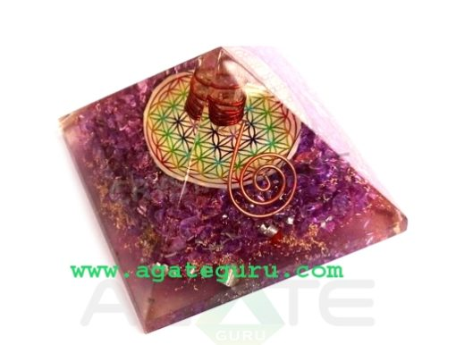 Big-Orgonite-Chakra-Violet-Pyramid-With-Flower-Of-Life-Symbol-And-Crystal-Point-600x495