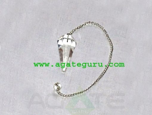 Clear Crystal Quartz Pendulum : Wholesale Gemstone Pendulums Manufacturer
