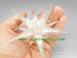 Crystal Quartz 12 Point Merkaba Star Wicca Reiki Healing