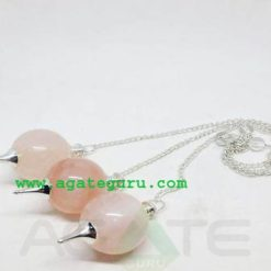Rose Quartz Dowsing Ball Pendent : Pendulum Wholesaler