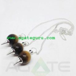 Tiger Eye Ball Pendent : Pendulum Wholesaler