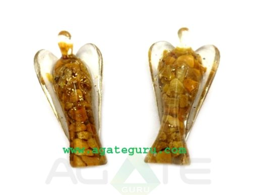 Yellow Aventurine 3inch Angels : Orgone Angels : Healing Orgone Crystals