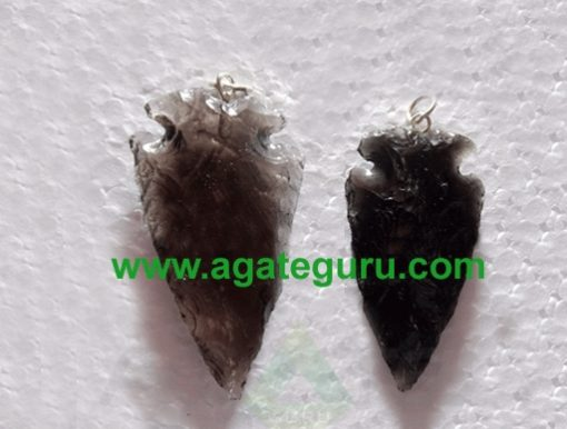 Black Glass Stone Arrowhead Pendant wholesale : Cheap arrowheads for sale