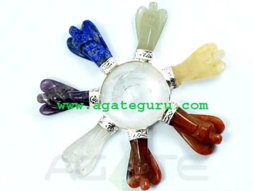 Energy Generator with 7 Chakra Angels : Chakra Healing Energy Generator : Healing Energy Generators : Crystal Grid Sets