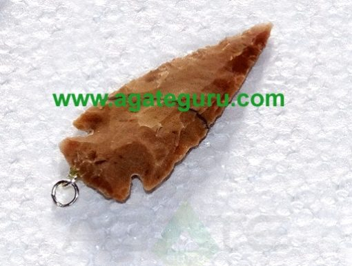 Wholesale White Shaded Small Agate Arrowhead Pendant for sale