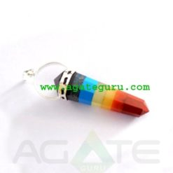Bonded Chakra point Pendants Wholesale Chakra Gemstone pendants