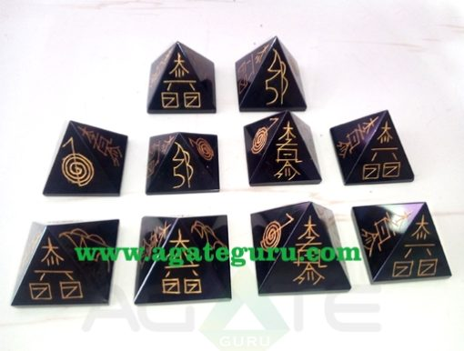 Black Tourmaline Usai Big Pyramid | Reiki Sets | Reiki Stones