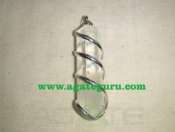Crystal Quartz Wire Wrapped Stone Pendants